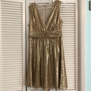 Gold sequined dress - Eva Mendes for New York & Co